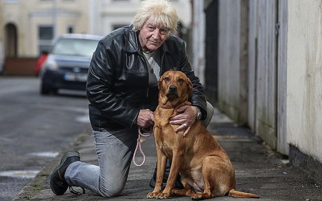Alan está muito agradecido pela inteligência de sua cachorra. (Foto: Reprodução / Telegraph)