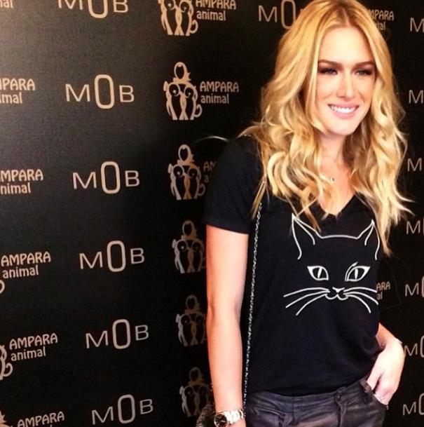 Fiorella Mattheis no coquetel de lançamento dos produtos. (Foto: Reprodução / Instagram)