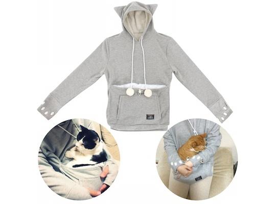 Gorro com orelhas de gato e mangas com marcas de patinhas. (Foto: Reprodução / Japan Trend Shop)