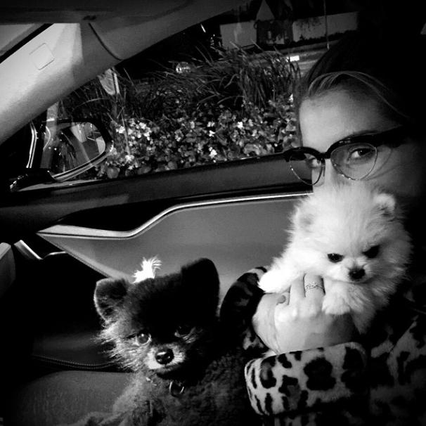 Kelly com os cães Sid e Nancy. (Foto: Reprodução / Instagram)