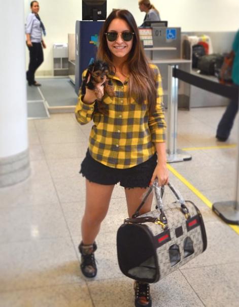 No aeroporto.  (Foto: Reprodução / Instagram)