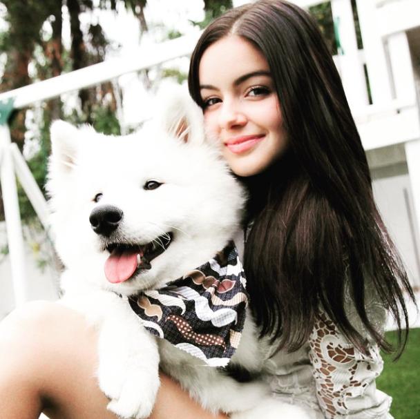 Ariel Winter publicou essa foto dizendo que é de quando o cão era filhote. (Foto: Reprodução / Instagram)