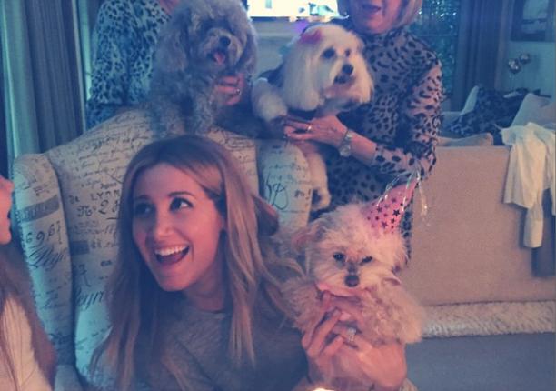 Festinha de aniversário da cachorra Maui, de Ashley Tisdale. (Foto: Reprodução / Instagram)