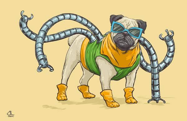 Doutor Octopus, vilão dos quadrinhos do homem-aranha. (Foto: Josh Lynch)