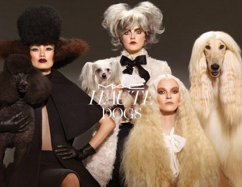 A nova linha de maquiagem da M.A.C. foi inspirada nos cães. (Foto: Divulgação)