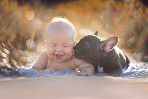 Ter um cachorro ajuda bebês e crianças a ter um sistema imunológico mais forte. (Foto: Reprodução / Bored Panda)