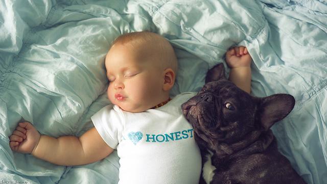 Ivette conta que o cão aguarda pacientemente Dilan acordar para que brinquem juntos. (Foto: Reprodução / Bored Panda)