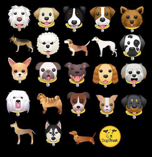 São ao todo 23 cãozinhos transformados em emojis. Foto Reprodução