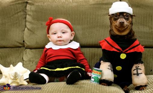 Olivia Palito e Popeye. (Foto: Reprodução / Bark Post)