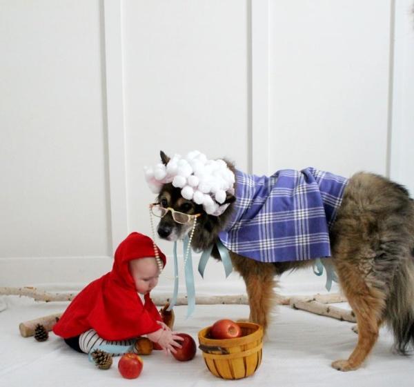 Chapeuzinho vermelho e o lobo mau. (Foto: Reprodução / Bark Post)