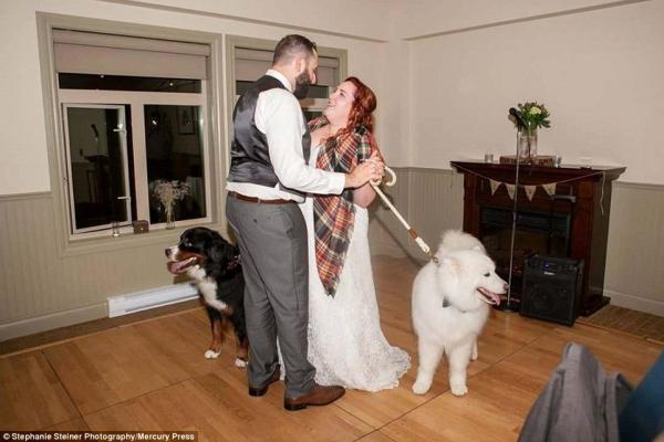 Holden e Zero participaram da valsa do casal! (Foto: Reprodução / Daily Mail UK)