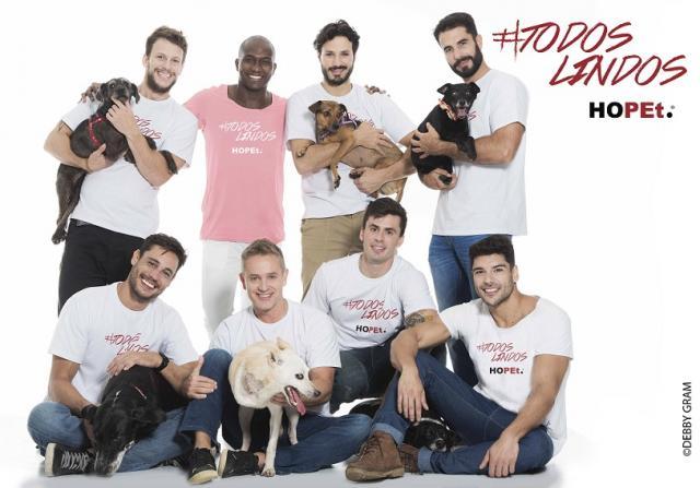 Modelos humanos e caninos participam da campanha. (Foto: Debby Gram)