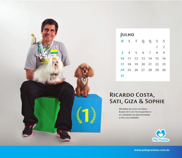 Ao comprar o calendário você estará ajudando o projeto. (Foto: Luciana Botelha)