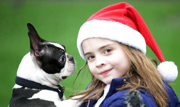 A garotinha pediu para o Papai Noel encontrar sua cachorra. (Foto: Reprodução / Express UK)