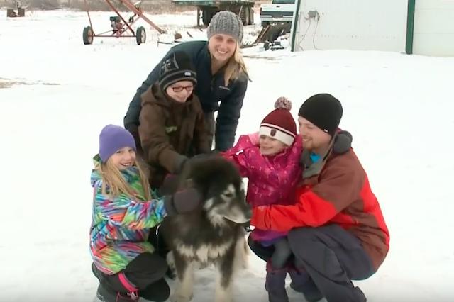 O cão Rex com sua família. (Foto: Reprodução / Youtube / CTV News)