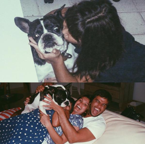 Giulia Costa fez uma homenagem ao cão Manolo.  (Foto: Reprodução / Instagram)