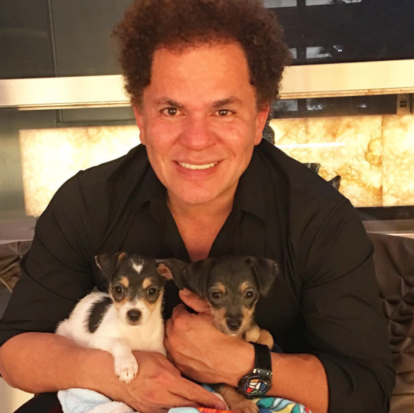 Romero Britto adotou as cachorrinhas no fim de dezembro. (Foto: Reprodução / Instagram)