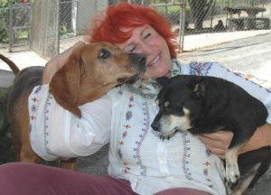 Helene tem os cachorros do abrigo como membros de sua família. (Foto: Reprodução / The Dodo / Helene Wirt)