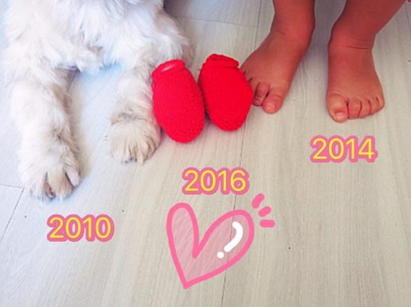 Anúncio de gravidez da atriz Bárbara Borges. (Foto: Reprodução / Instagram)
