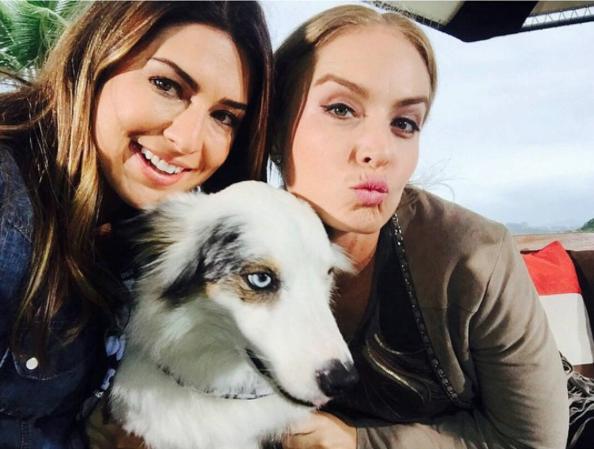 Fernanda Paes Leme e Angélica com o cão Google. (Foto: Reprodução / Instagram / googledog)