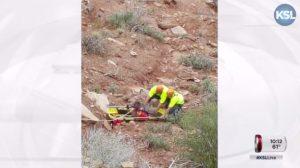 Apesar de chegar mais de uma hora após o chamado, equipe de resgate conseguiu salvar o animal. (Foto: Reprodução / KSL-TV)