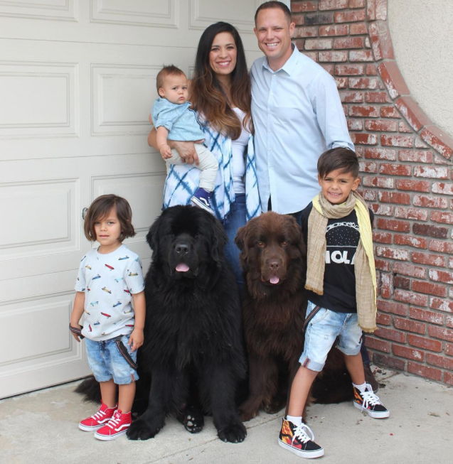 A família completa. (Foto: Reprodução / Instagram / ralphie_the_newf_and_the_boss)