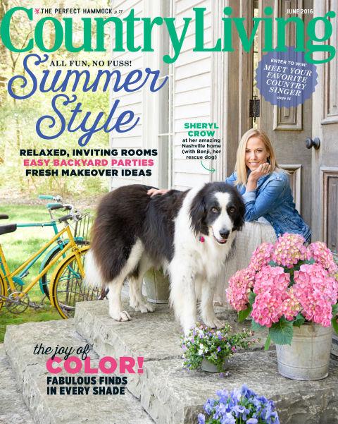 A capa da revista. (Foto: Reprodução / Country Living)
