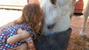 Ela ajuda a cuidar e alimentar os animais, além de dar muito amor. (Foto: Reprodução / Greener Pastures Sanctuary)
