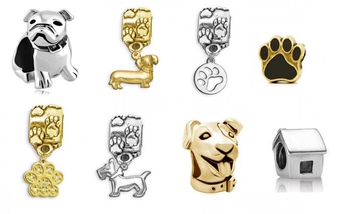 Alguns dos berloques da Flor de Prata. (Fotos: Divulgação / Montagem: Portal do Dog)