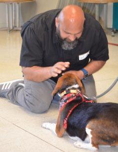 O cão recebeu tratamentos médios e participou de programa que ajuda presos. (Foto: Reprodução / Karma Rescue)
