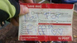 Para não deixar Pippa triste nos dias que não tem nada para a família, o carteiro Mark Studer resolveu escrever cartinhas especialmente para a cadela. (Foto: Reprodução / Life With Dogs)