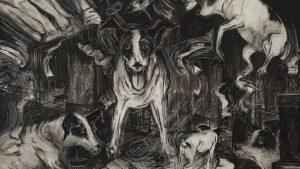 Quadro de Lolabelle pintado por Laurie Anderson e mostrada no documentário. (Foto: Reprodução / Laurie Anderson)