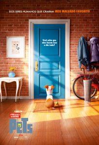 O filme é uma animação que mostra o que os animais fazem quando ficam sozinhos em casa. (Foto: Reprodução / Pets Filme)
