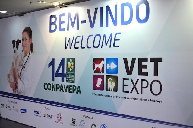 Entrada da CONPAVEPA E Vet Expo. (Foto: Karina Sakita)
