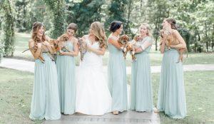 Os noivos sempre foram apaixonados por cães e decidiram incluir esse amor em sua festa de casamento. (Foto: Reprodução / Caroline Logan)
