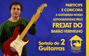As guitarras vão ser sorteadas entre as pessoas que colaborarem com a vaquinha on-line da ONG. (Foto: Divulgação / Paraíso dos Focinhos)