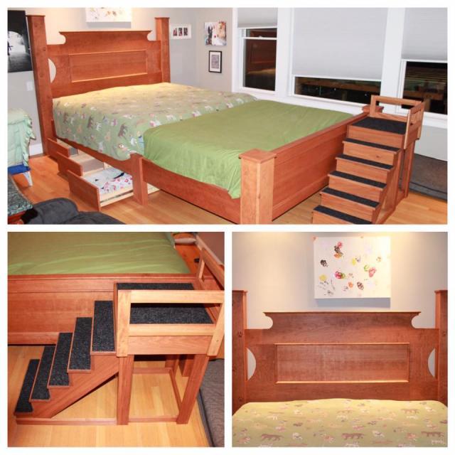 Todos os detalhes da cama. (Foto: Reprodução / Facebook / Michael's Custom Interiors)
