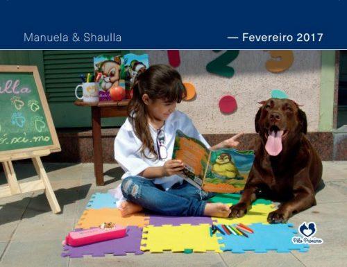As fotos trazem cães terapeutas interagindo com crianças. (Foto: Divulgação / Projeto Pêlo Próximo)