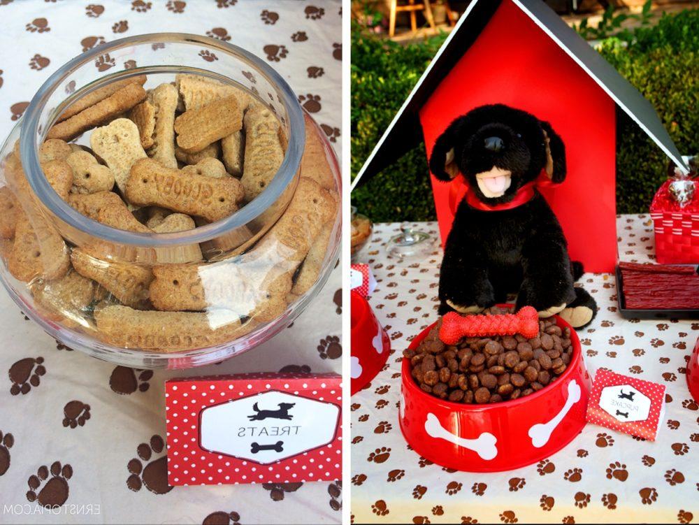 Decoração de mesa de aniversário para cachorro